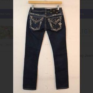 Miss Me Embellished Dark Straight Jeans